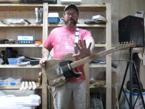 MGK  Reclaimed Pine Barncaster made with Fender Telecaster Parts