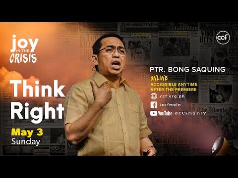 Think Right - Bong Saquing - Joy in the Crisis