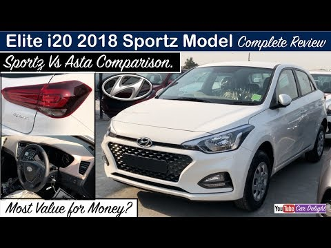 Elite i20 2018 Sportz Model Interior,Exterior,Features | New i20 2018 Sportz Features,Review
