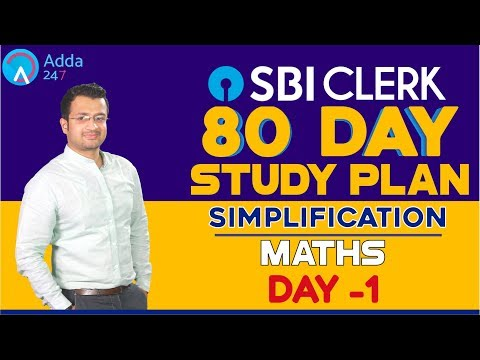 SBI CLERK PRE 80 Day Study Plan - Simplification By Sumit Sir  - Day -1