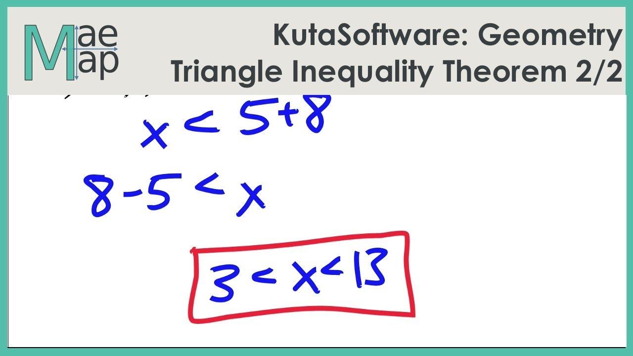 Kutasoftware Geometry Triangle Inequality Theorem Part 2 Youtube