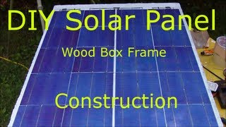 Diy Solar Panel Wood Box Frame, Step By Step