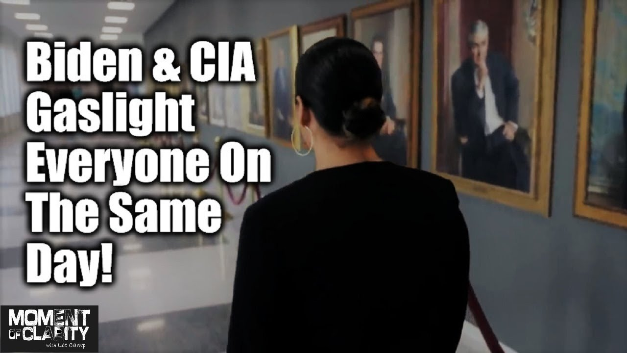 Biden & CIA Gaslight Everyone On The Same Day!