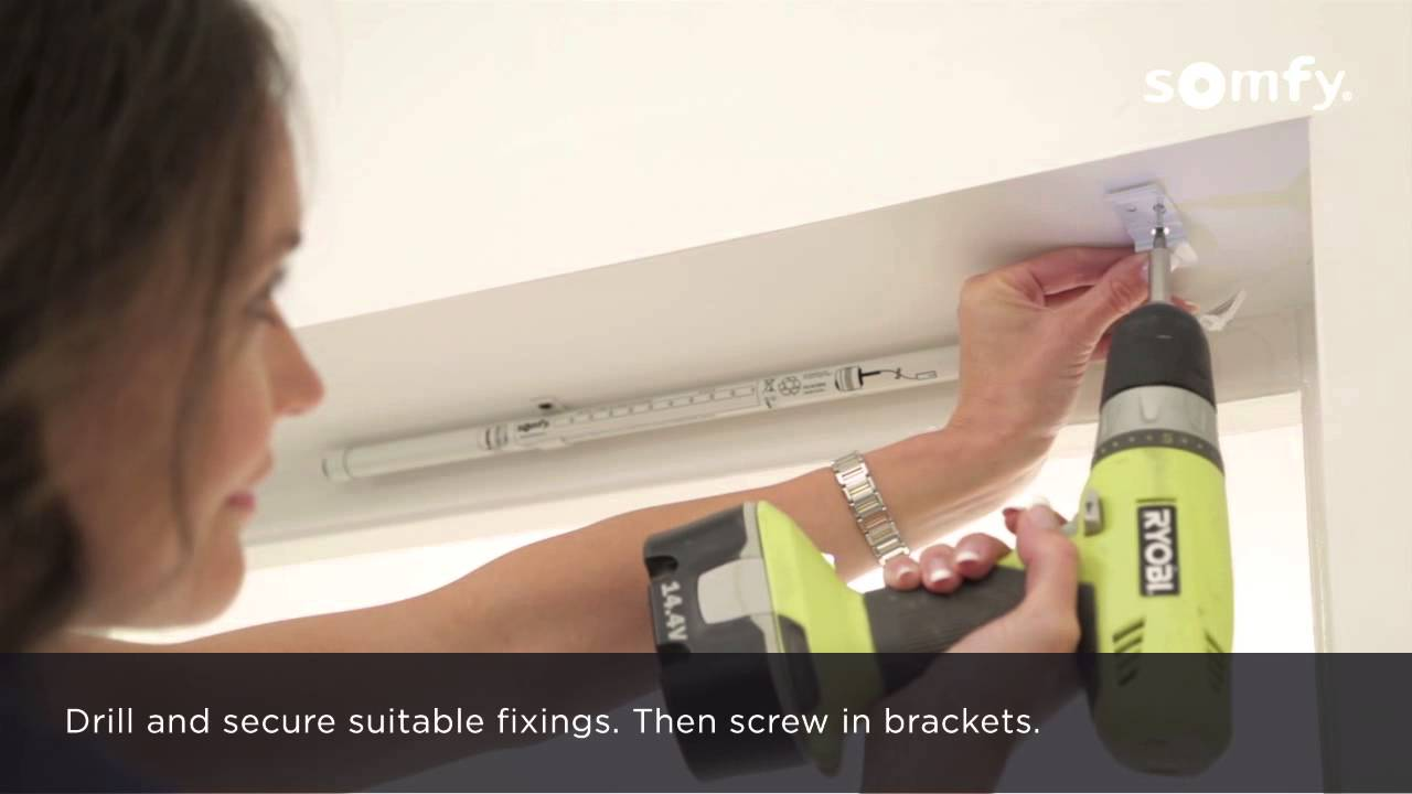 Somfy Rts Electric Roller Blinds Installation Youtube