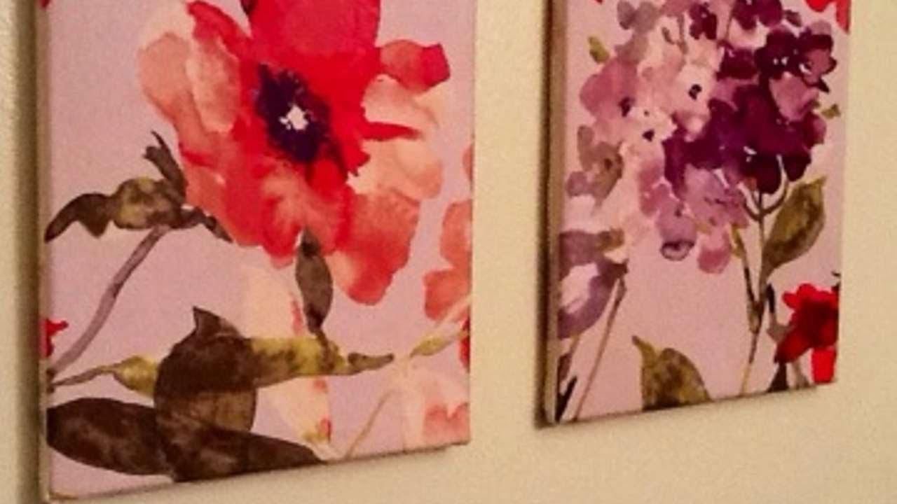 crea dei graziosi quadri floreali fai da te casa