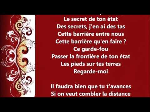 Les  Chansons  d'Amour  La Distance lyrics (paroles)