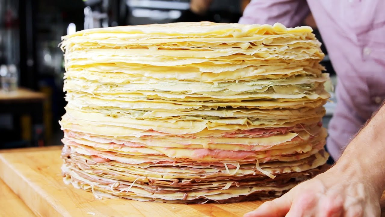 100-Layer Giant Crepe Cake