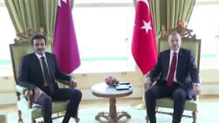 Cumhurbaşkanı Erdoğan Katar Emiri Yle Görüştü