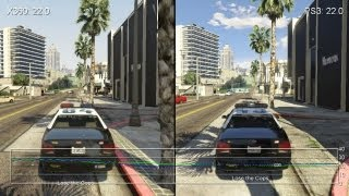 Grand Theft Auto 5 Xbox 360 vs. PS3 Gameplay Frame-Rate Tests(Subscribe for more current-gen/next-gen console and tech analysis: http://www.youtube.com/subscription_center?add_user=DigitalFoundry While the cut-scene ..., 2013-09-17T10:02:28.000Z)