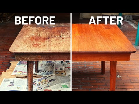 Restoring A 70 Year Old Table | Mid Century Furniture Restoration
