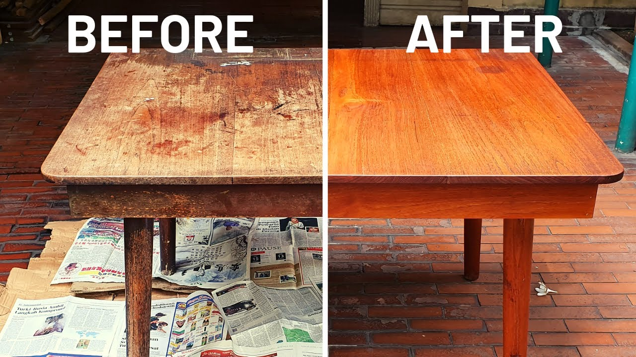How to Restore a 70 Year Old Table | Mid Century Furniture Restoration