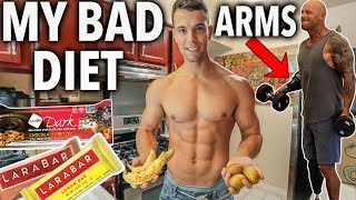 WHAT I EAT IN A DAY Away from Home + Full Arm Workout w/ Paul