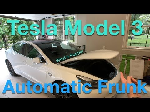 Tesla Model 3 owner showcases DIY automatic-lifting front trunk (frunk)