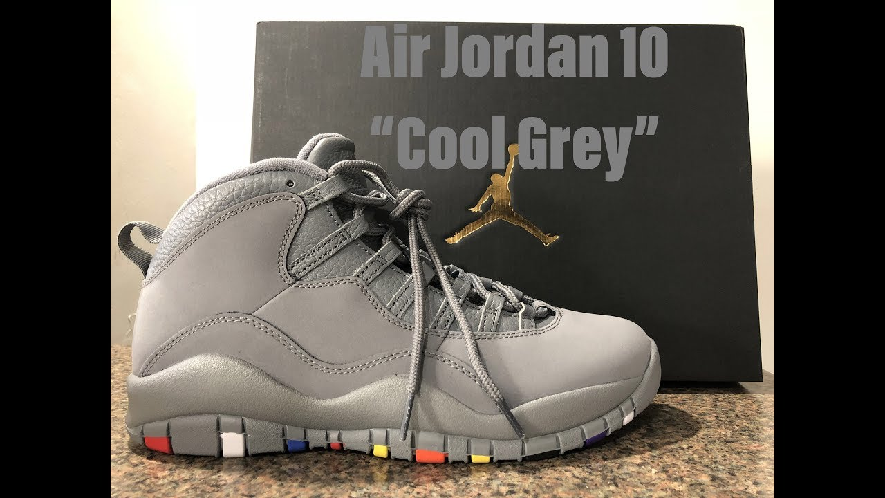 "763082824297 2018 AIR JORDAN 10 ""COOL GREY"""