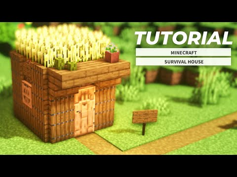 [Minecraft] How To Build A Starter House   Survival Starter House Tutorial