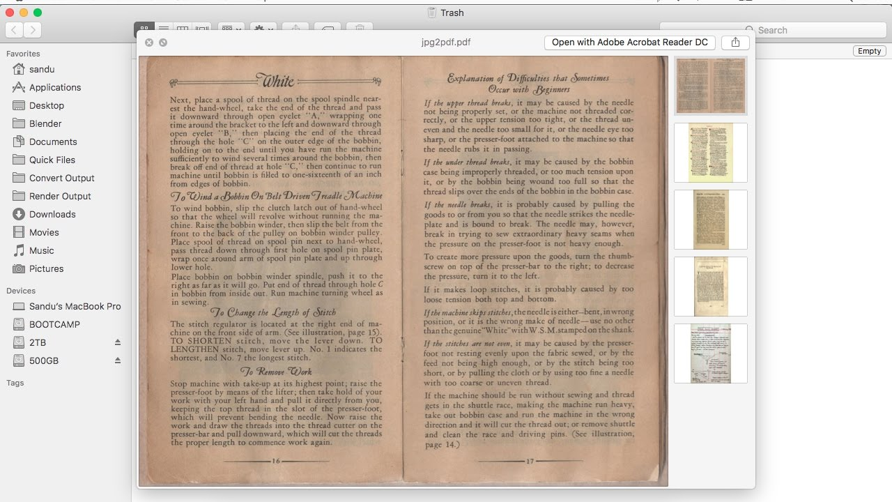more pdf files into one