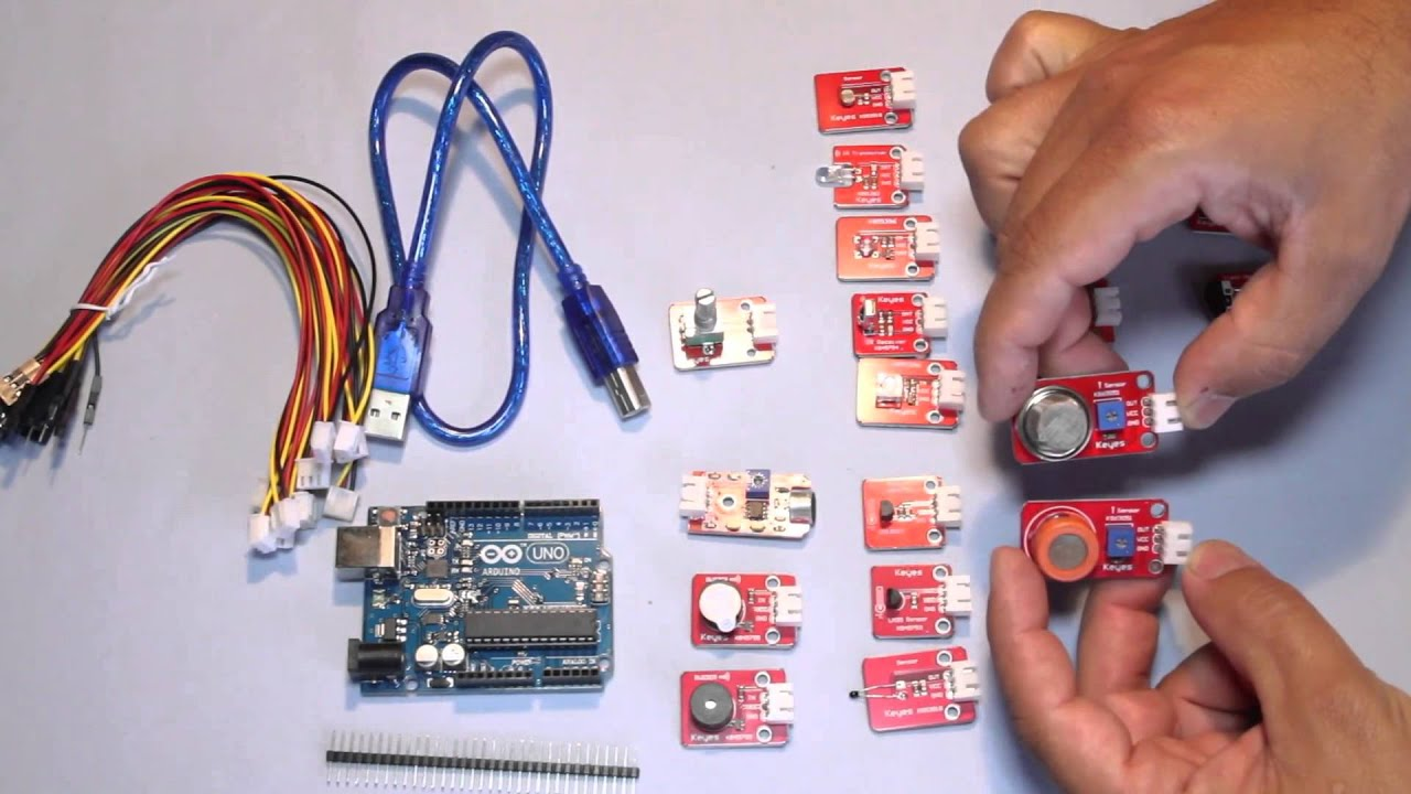 Kit arduino uno r y modulos keyes youtube