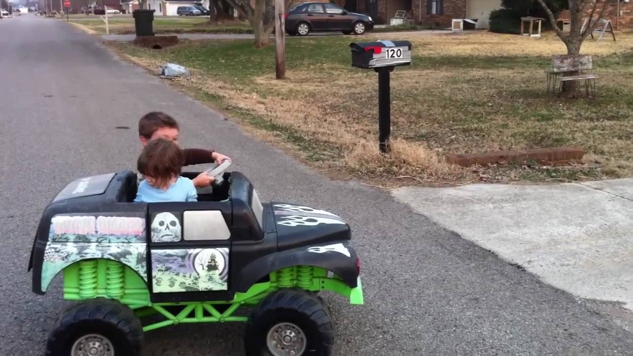 Custom Ride Ons - 12V Power Wheels Grave Digger Monster Truck - by ...