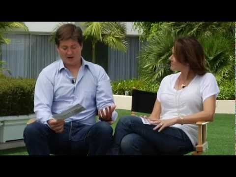 Cougar Town press tour  Bill Lawrence and Christa Miller  each other