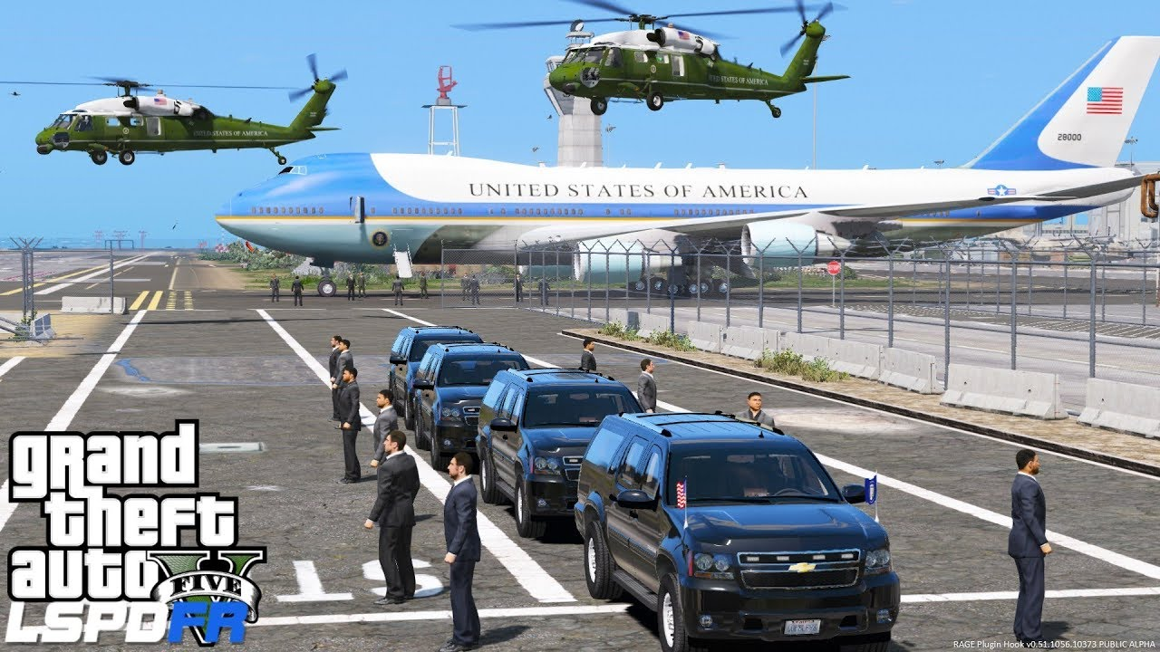Download GTA 5 Presidential Mod | Marine One Helicopter Transporting President Trump To Air Force One