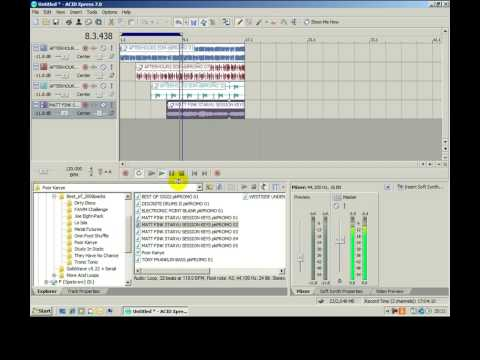 Acid Training Part 1 - Learn how to use Sony's Acid Xpress music software