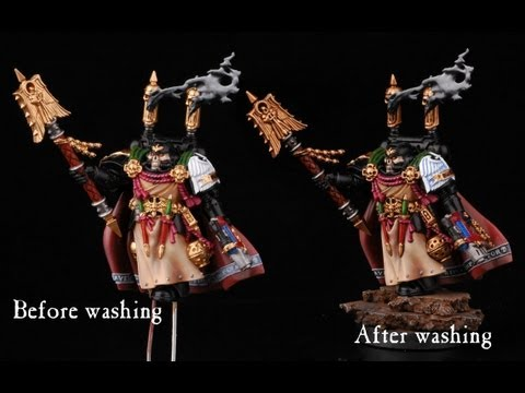 How to make and use oil wash? Warhammer 40k painting miniatures tutorial buypainted