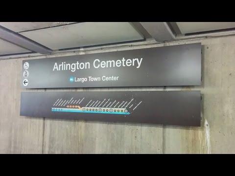 Arlington Cemetery Metro Station - Washington DC Metro Blue line