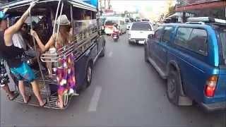 Riding down 2nd Road Pattaya Thailand