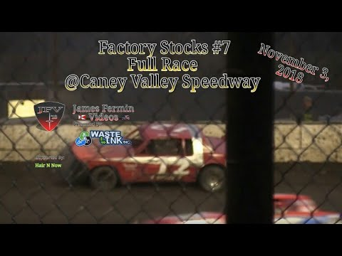 Factory Stocks #7, Full Race, Caney Valley Speedway, 11/03/18