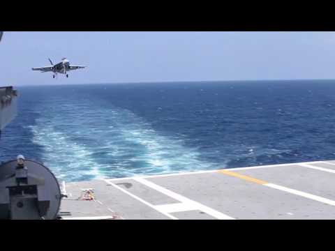 First Fixed Wing Aircraft Recovered Aboard USS Gerald R. Ford