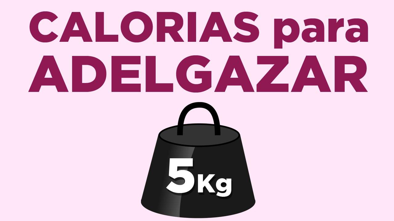 cuantas calorias debo consumir para bajar de peso sin ejercicio