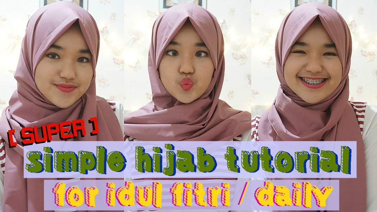 Super Simple Tutorial Hijab For Idul Fitri Daily Indo Nada