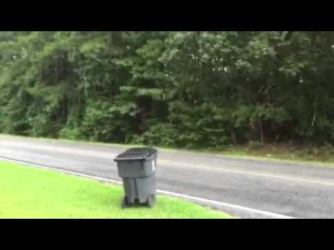 Getting The Garbage Can In The Rain In North Georgia