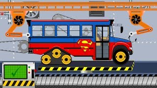 Superman Bus Truck - Super Bus | Toy Factory | Fabryka Zabawek - Autobus Superman