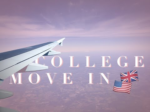 COLLEGE MOVE IN VLOG // UK to US!✈️