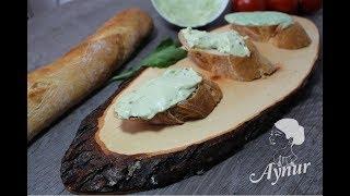 Kahvaltilik Rokali ve Avokadolu labne peyniri Tarif I Frischkäse mit Avocado und Ruccola