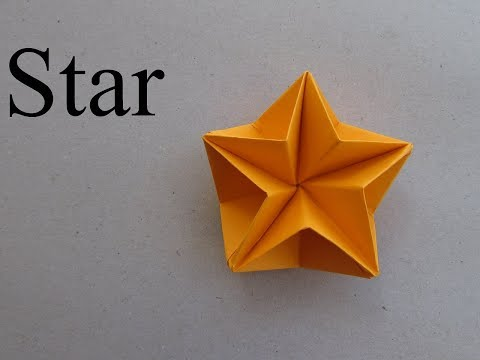 3D Star Paper Craft Tutorial | How to & Origami | Cindy DIY - Part 2