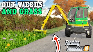 *NEW* YOU CAN MOW WEEDS AND BRUSH!   Sandy Bay Farming Simulator 19 - Episode 39