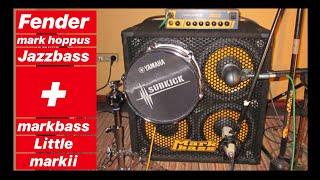 Fender Mark Hoppus Jazz Bass + Markbass Little Mark II (Test/Playthrough/Demo/Review)