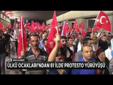 ÜLKÜ OCAKLARI'NDAN 81 İLDE PROTESTO YÜRÜYÜŞÜ   Milliyetçi Hareket Partisi MHP