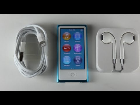 new ipod nano 7th generation unboxing blue youtube. Black Bedroom Furniture Sets. Home Design Ideas