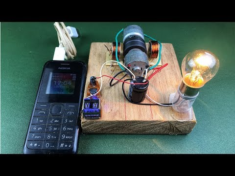 How to make free energy 100% mobile charging self running