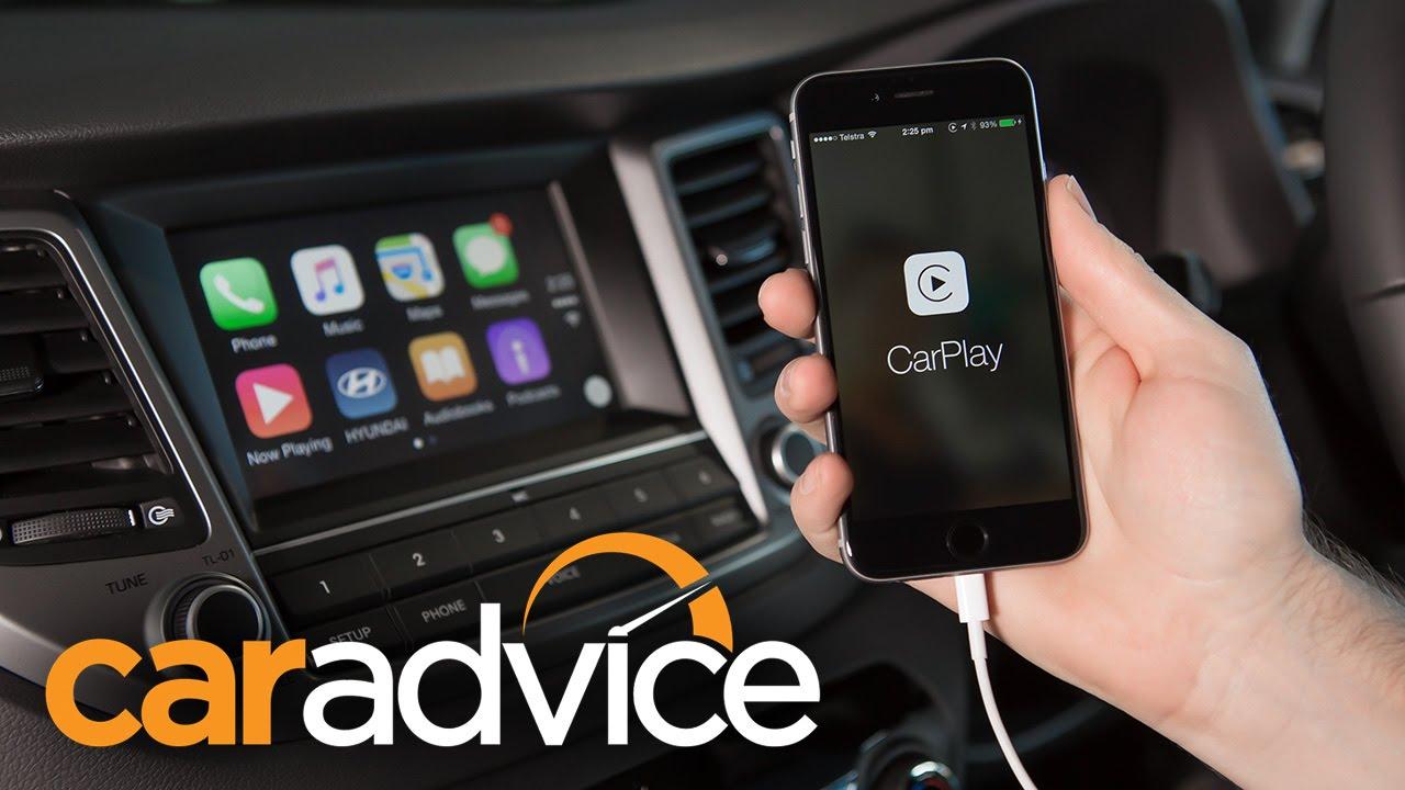 Apple Carplay In The 2015 Hyundai Tucson Youtube