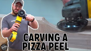 I Carve An Epic 6ft. Pizza Peel!
