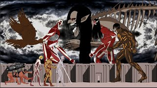 Eren founding Titan new final format vs All titan shifter. Attack on titan Drawing cartoon 2.