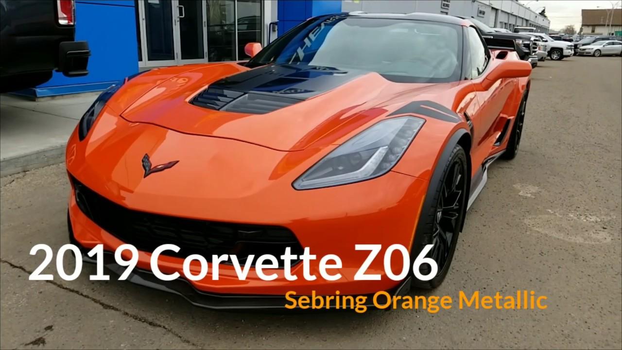 Sebring Orange Metallic 2019 Corvette Z06