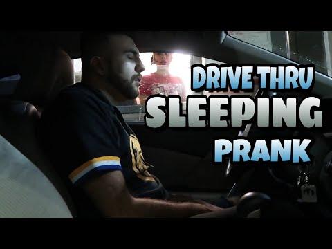 Drive Thru SLEEPING PRANK!!