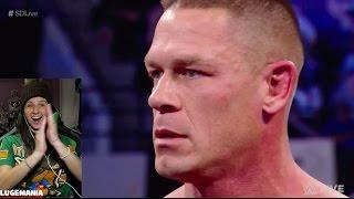 WWE Smackdown 3/28/17 Cena calls Miz a Pus**