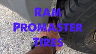 Truck tires Ram 1500 pro master