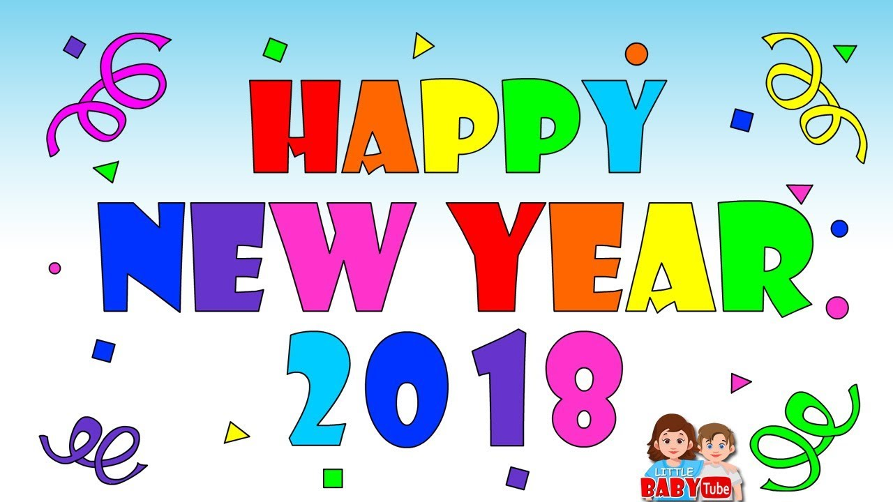 happy new year 2018 new year coloring page color learning for kids
